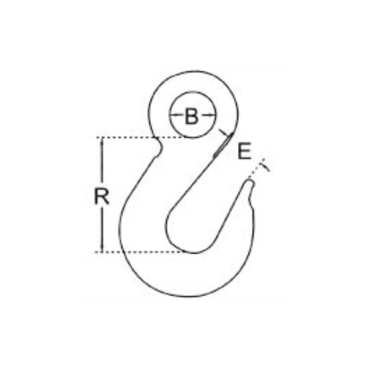 Nerezový hák s okem AISI316 1/4 nosnost 200kg