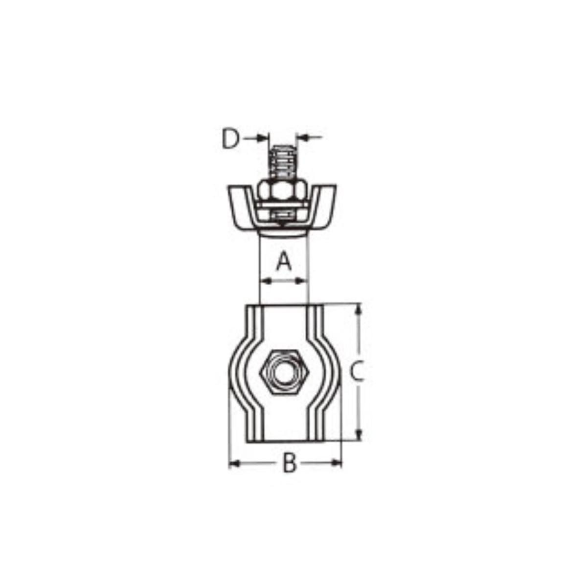 Nerezová lanová svorka SIMPLEX - AISI316