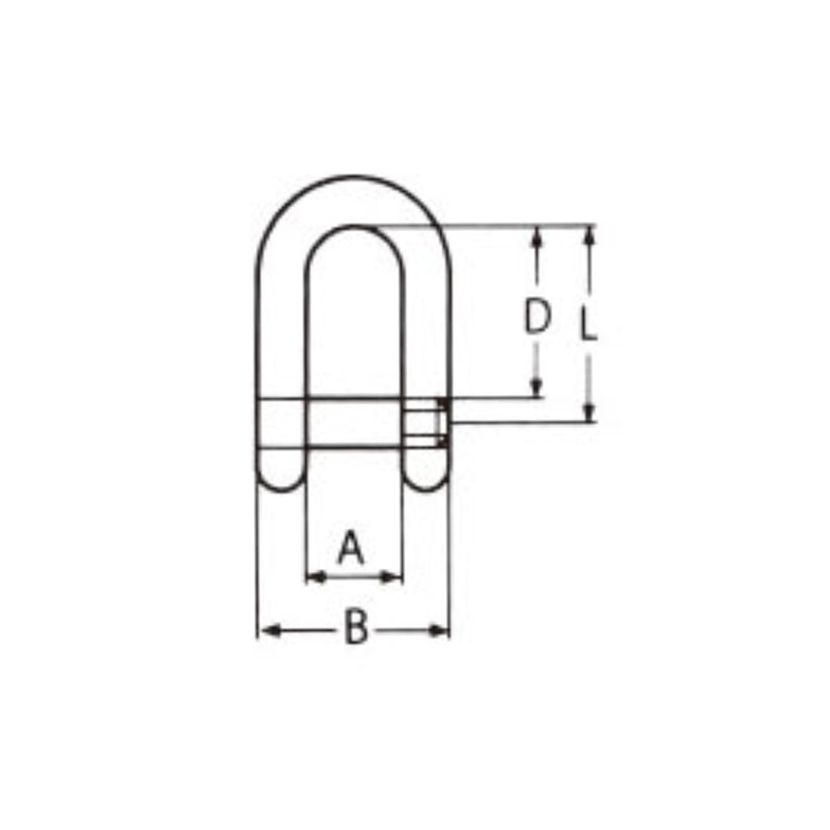 Nerezový třmen rovný s šestiúhelníkovým čepem BI