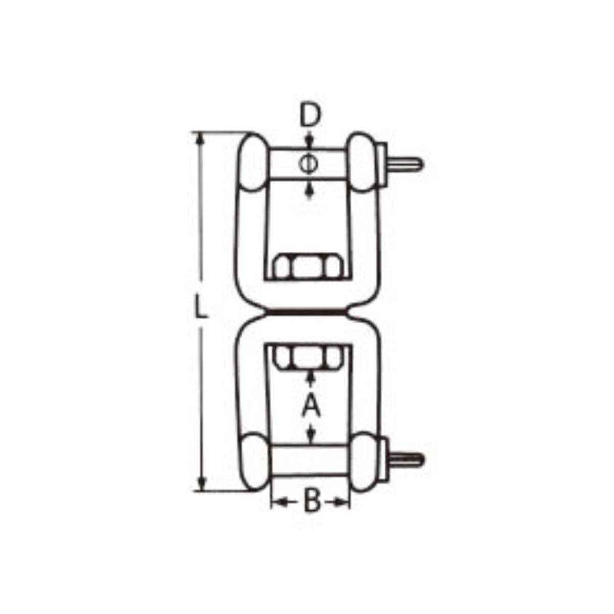 Nerezový obrtlík vidlice-vidlice - AISI316