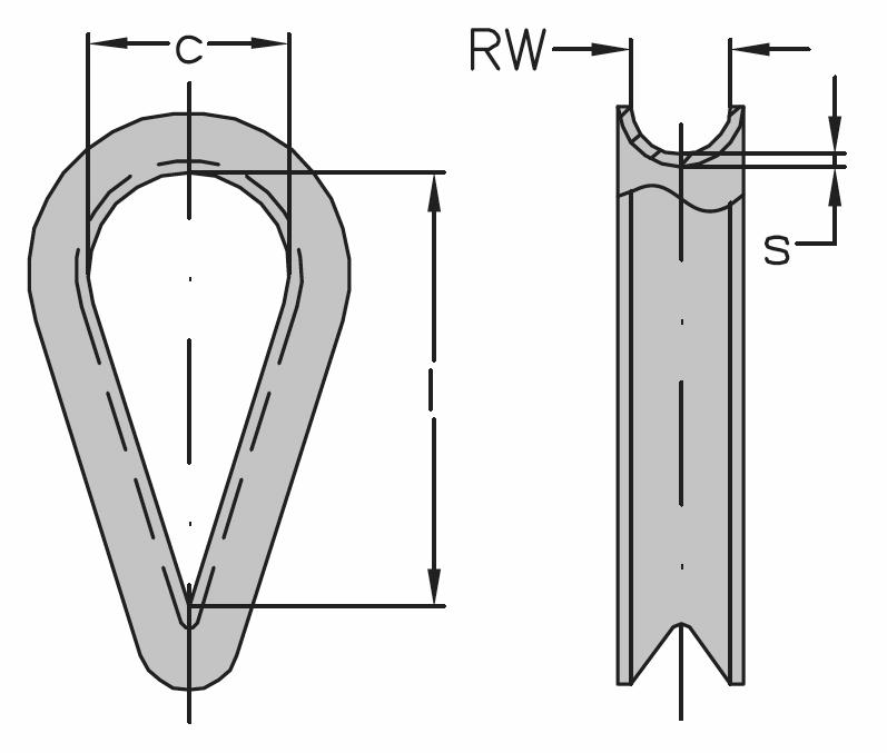 Očnica DIN 65457, pozinkovaná