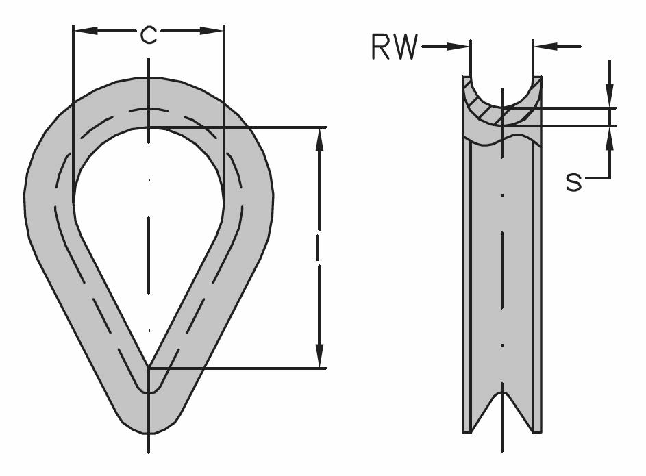 Očnice DIN 6899 typ BF, zesílený oblouk, pozinkovaná