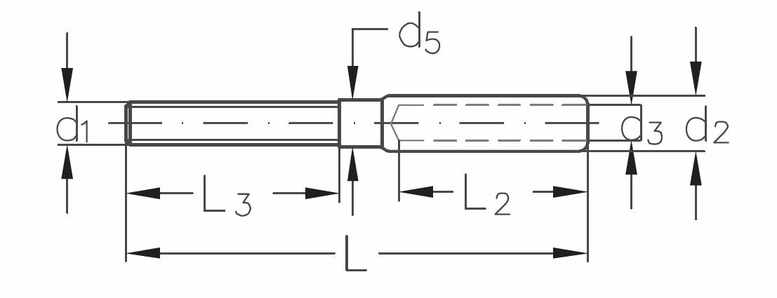 ASS - Nerezová závitová koncovka -SUPER MINI - s pravým závitem