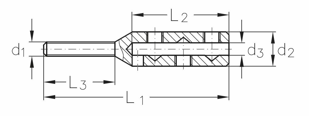 ASS - Nerezová koncovka s pravým vnějším závitem - MINI - k montáži