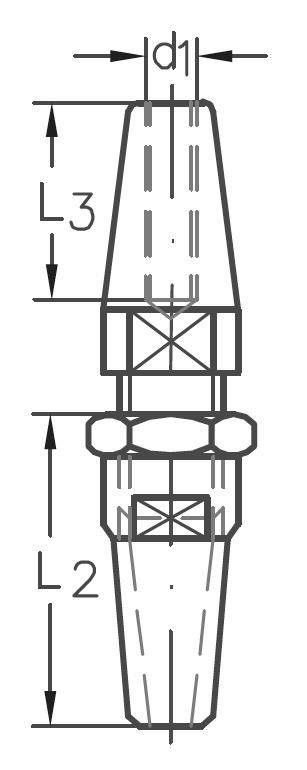 ASS - Nerezová koncovka k montáži, s pravým vnitřním závitem - A2