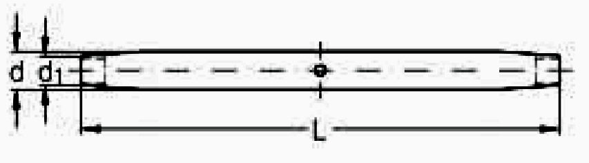 ASS - Nerezový napínák - střední díl - SUPER MINI - dlouhé provedení