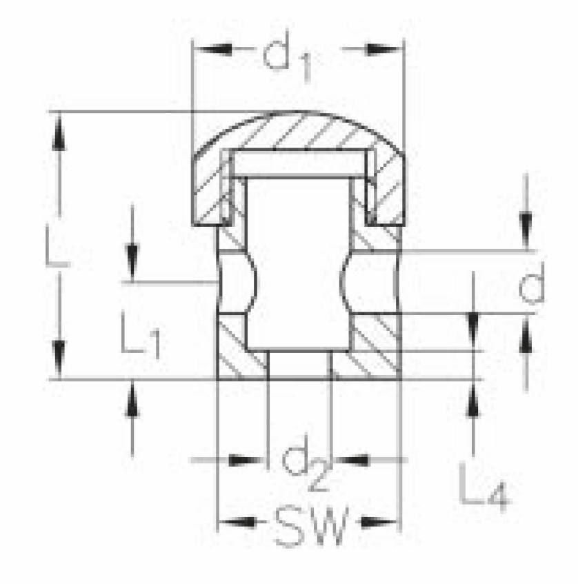 ASS - nerezová svorka šroubovací koncová - 332013