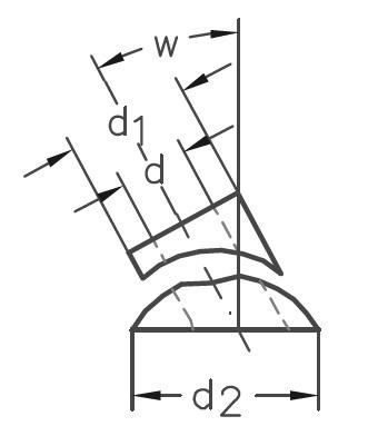 SS - nerezová úhlová podložka pro rovné sloupky