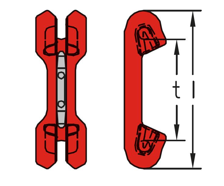 DVKF - dvojitá skracovací čeľusť s poistkou, trieda 8