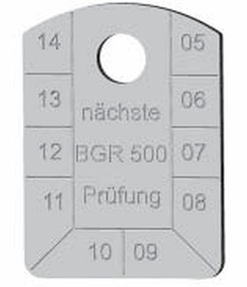 Identifikační štítek-kontrolní, pozinkovaný