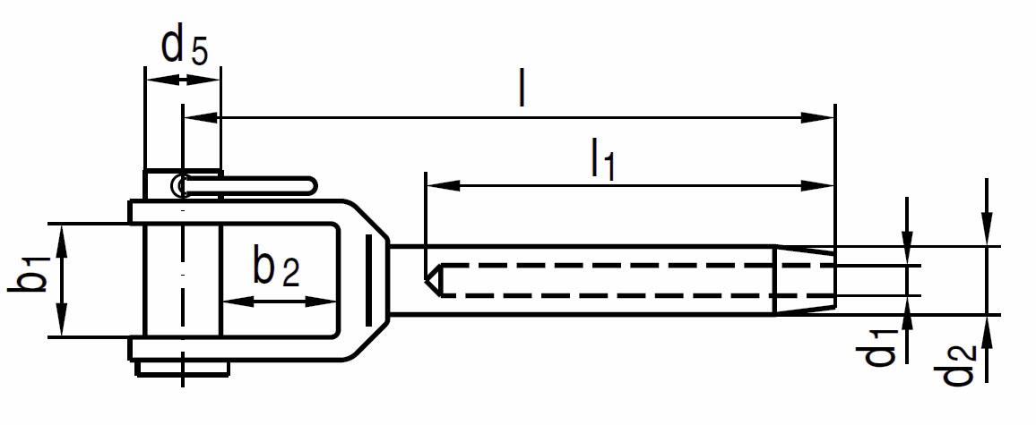 Nerezová vidlice k válcování AISI 316 (A4)