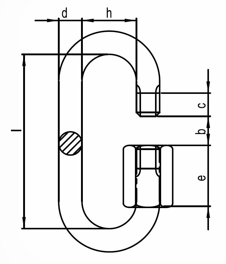 Řetězová rychlospojka , DIN 56927 - Form A, pozinkovaná