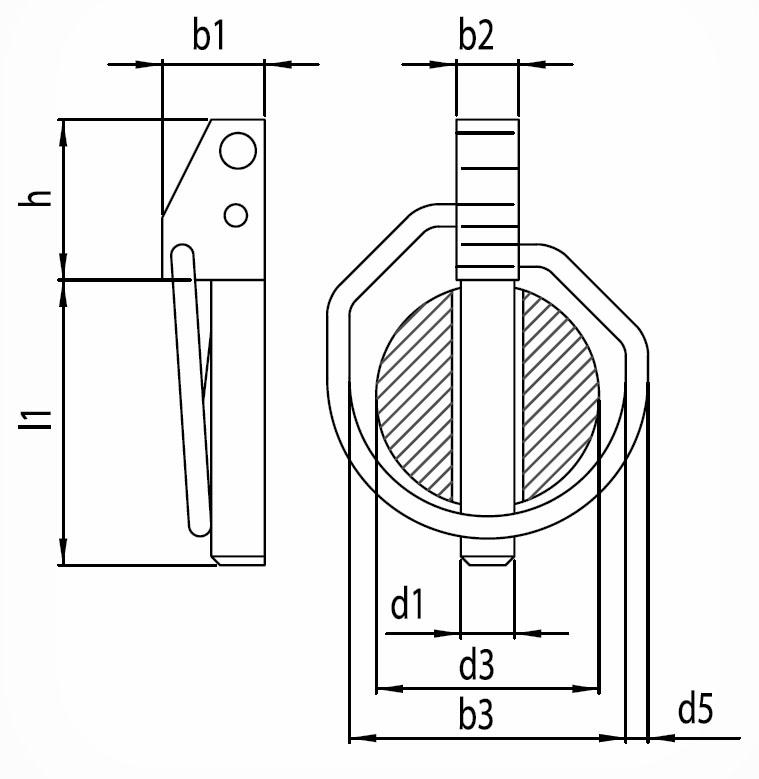 Pojistný kolík DIN 11023 - pozinkovaný