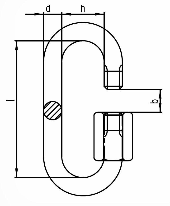 Nerezová reťazová rýchlospojka, AISI 316 (A4)