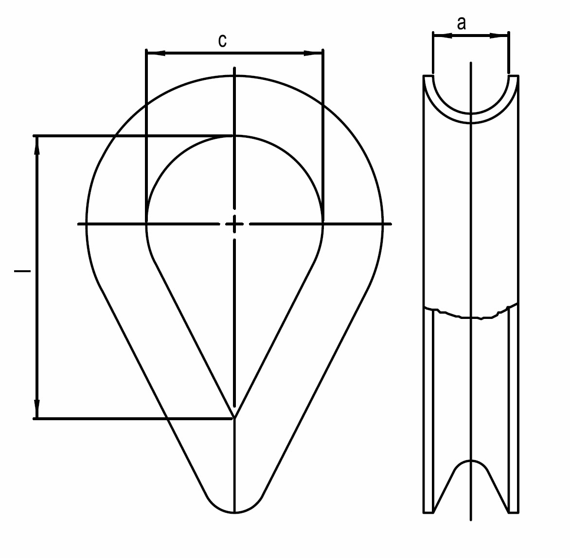 Nerezová očnice - AISI 316 ( A4 )
