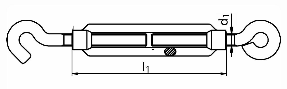 Napínák ohýbaný drát O-H (oko-hák), pozinkovaný