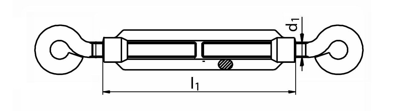 Napínák ohýbaný drát O-O (oko-oko), pozinkovaný