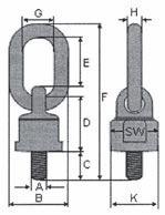 Vázací bod otočný k našroubování, tř. 8, typ-430, červený lak