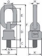Vázací bod k našroubování, tř. 10, typ-435, zelený lak