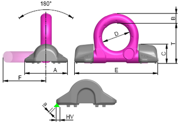 Navařovací dvoukozlíkový bod - VRBS - RUD