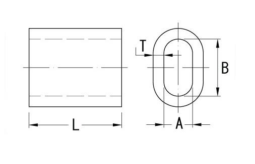 AL oválná objímka W