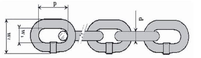 Řetěz vysokopevnostní, třída 8, černý