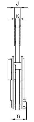 Vertikálna zdvíhacia svorka IP10 s jednoduchým okom - CROSBY-rozmery