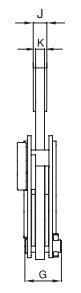 Vertikální zvedací svěrka IP10 s jednoduchým okem - pro plechy s větší tloušťkou - CROSBY