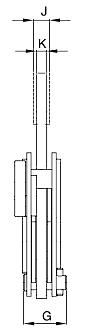 Vertikální zvedací svěrka IP10 s jednoduchým okem-pro plechy s tvrdostí až 47 HrC-CROSBY-rozměry