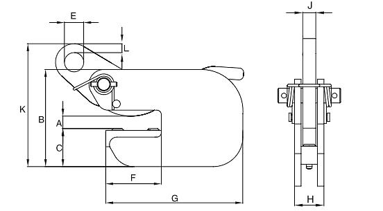 Horizontální zvedací svěrka IPBC - CROSBY