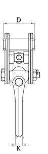 Zvedací svěrka na profily IPTKU - CROSBY