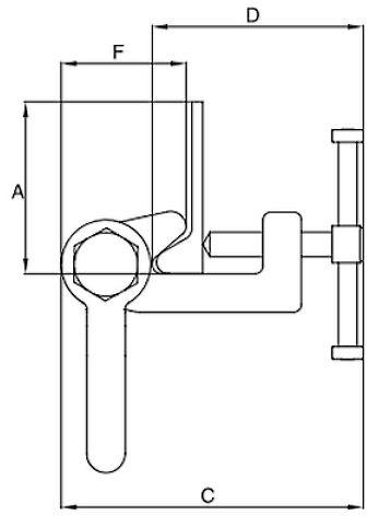 Skrutková zdvíhacie zvierka IPBTO10 - CROSBY-rozmery