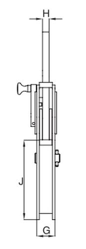 Zvedací svěrka na profily IPBSNZ - CROSBY-rozměry