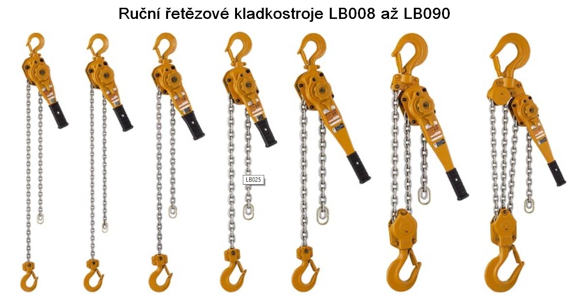 Řetězový řehtačkový zvedák KITO typ LB010 nosnost 1000kg