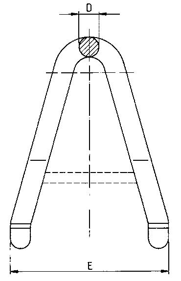 Stohovací hák vysokopevnostní s okem, typ-915, třída 8, typ-910, červený lak