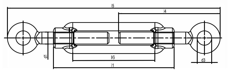 Nerezový napínák oko-oko AISI316 PAVLINEK