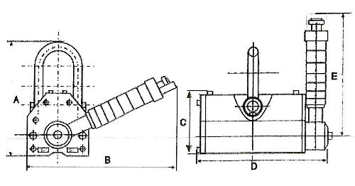 Permanentný bremenový magnet PML-rozmery