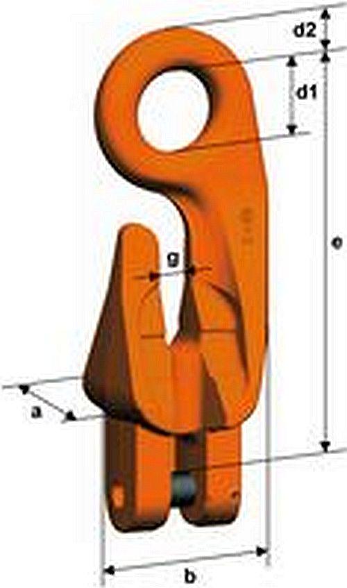 Fixačný hák s čapom XKW, trieda 10, PEWAG WINNER