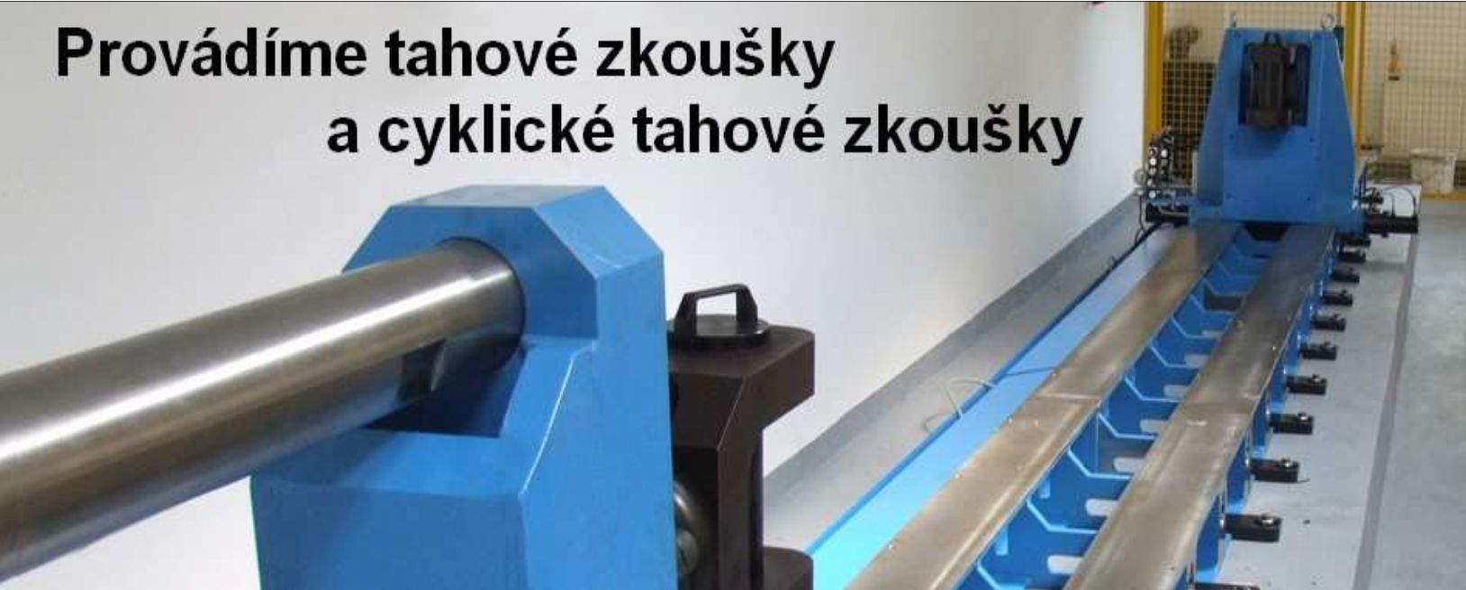 tahové zkoušky do 1500 kN zkušebna Pavlínek s.r.o.