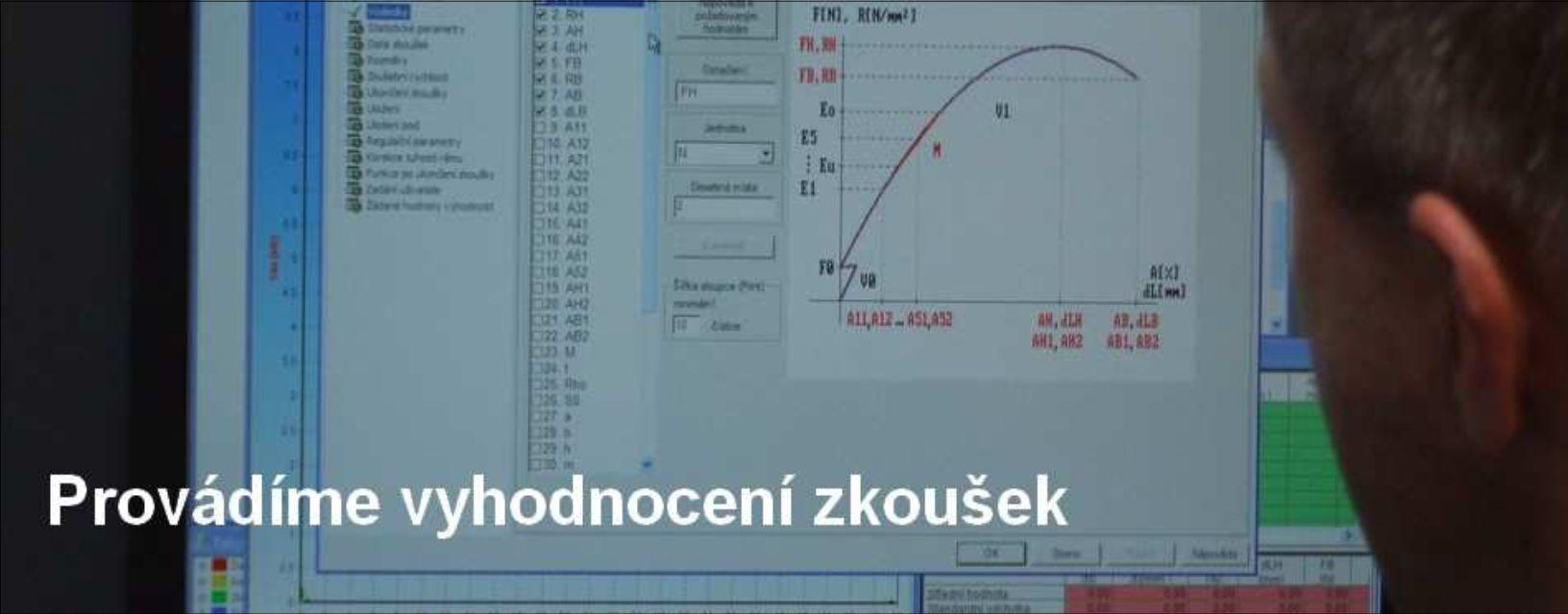 Vayhodnocení zkoušek - zkušebna Pavlínek s.r.o.