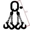 Vázací řetěz třídy 8 čtyřpramenný, oko-hák, průměr 6mm, nosnost 2360kg