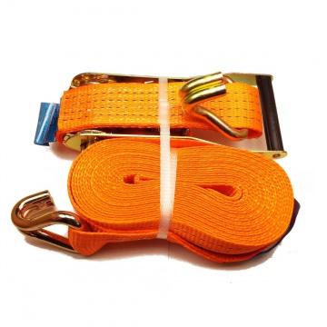 TOP OVASLING, typ 4002 dvoudílný upínací pás s hákem IHD, l=10m, š.50mm, 2000daN, oranžový