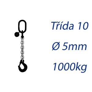 Vázací řetěz třídy 10 jednopramenný průměr 5mm nosnost 1000Kg