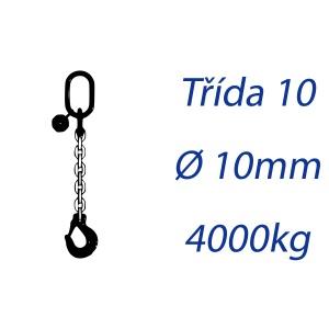 Vázací řetěz třídy 10 jednopramenný průměr 10mm nosnost 4000Kg