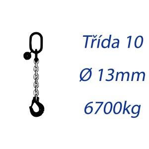 Vázací řetěz třídy 10 jednopramenný průměr 13mm nosnost 6700Kg