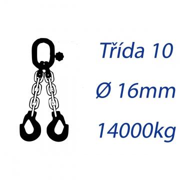 Vázací řetěz třídy 10 dvoupramenný průměr 16mm nosnost 14000Kg