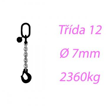 Vázací řetěz třídy 12 jednopramenný průměr 7mm nosnost 2360Kg