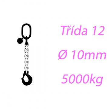 Vázací řetěz třídy 12 jednopramenný průměr 10mm nosnost 5000Kg