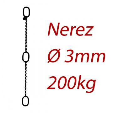CPK 3, nerezový převěsný řetěz - nosnost 200kg -  Pumpenkette