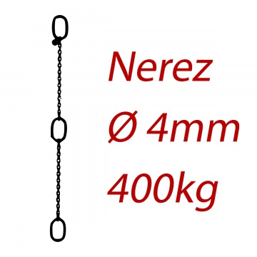CPK 4, nerezový převěsný řetěz - nosnost 400kg -  Pumpenkette